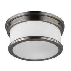 Feiss Lighting Payne Brushed Steel Flushmount Light