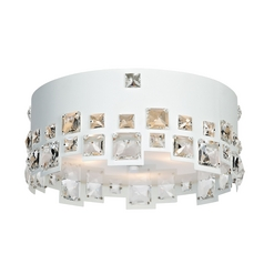 Lite Source Lighting Isabella White Flushmount Light