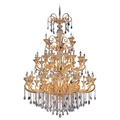 Legrenzi 48 Light Crystal Chandelier w/ Two-Tone Gold 24k