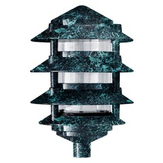 Verde Green Cast Aluminum Four Tier Pagoda Light