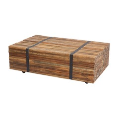 Teak Strapped Coffee Table