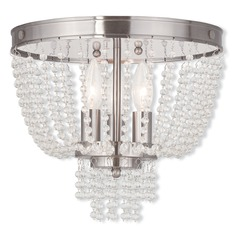 Livex Lighting Valentina Brushed Nickel Semi-Flushmount Light