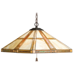 Kichler Lighting Kichler Pendant Light with White Glass in Dore Bronze Finish 65069