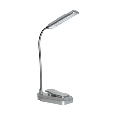 Modern LED Task / Reading Lamp in Silver Finish
