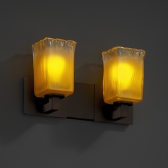 Justice Design Group Veneto Luce Collection Dark Bronze Bathroom Light
