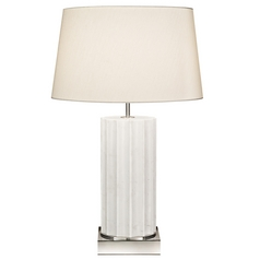 Fine Art Lamps White Marble Table Lamps White Marble Table Lamp with Drum Shade