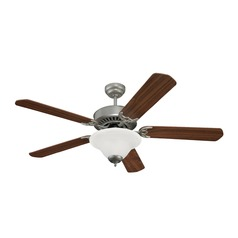 Sea Gull Lighting Quality Pro Deluxe Ceiling Fans Brushed Pewter Ceiling Fan with Light