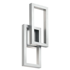 Kichler Lighting Rettangolo Platinum LED Outdoor Wall Light