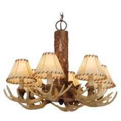 Lodge Noachian Stone Chandelier by Vaxcel Lighting