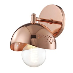 Mid-Century Modern Sconce Copper Mitzi Heidi by Hudson Valley