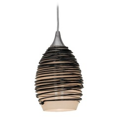 Adele Black Glass Mini-Pendant with LED Bulb