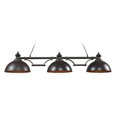 LED Island Light in Oiled Bronze Finish - 3 Lights