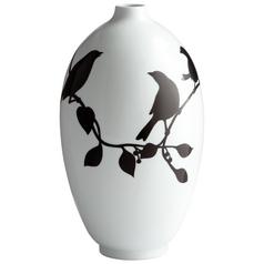 Cyan Design Midnight Finch Black & White Vase