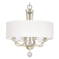 Capital Lighting Hutton Winter Gold Pendant Light with Drum Shade