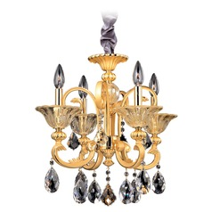 Legrenzi 4 Light Chandelier w/ Antique Silver Leaf
