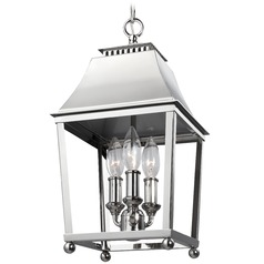 Feiss Lighting Galloway Polished Nickel Mini-Pendant Light