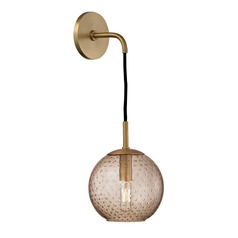 Mid-Century Modern Sconce Brass Rousseau by Hudson Valley Lighting