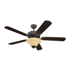 Sea Gull Lighting Quality Pro Deluxe Ceiling Fans Roman Bronze Ceiling Fan with Light