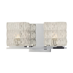 Hudson Valley Lighting Modern Bathroom Light with Clear Glass in Polished Chrome Finish 6242-PC