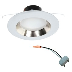 GU24 Adaptable LED Satin Nickel Reflector Retrofit Trim for 5 or 6 Inch Recessed Cans