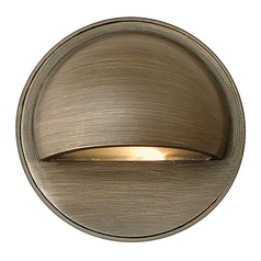 Modern Recessed Deck Light in Matte Bronze Finish