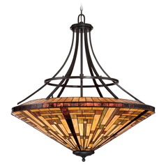 Quoizel Stephen Vintage Bronze Pendant Light with Conical Shade