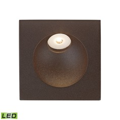 Alico Lighting Zone Matte Brown LED Recessed Step Light