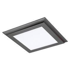 Nuvo Blink Plus Gunmetal Grey Square LED Flushmount Light 3000K 1300LM