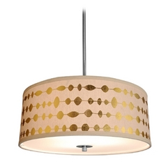 Design Classics Lighting Drum Shade Pendant Light in Satin Nickel Finish DCL 6528-09 SH7490  KIT