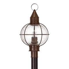 Seeded Glass Outdoor Post Light Bronze Hinkley Lighting