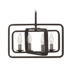 Industrial Aged Zinc Pendant Light by Hinkley Lighting