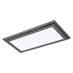 Nuvo Blink Plus Gunmetal Grey Linear LED Flushmount Light 3000K 1650LM