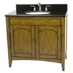 Design Classics Distressed Honey Vanity VN111-217 MAGELLAN