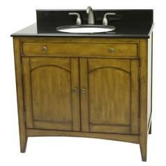 Distressed Honey Bathroom / Powder Room Vanity