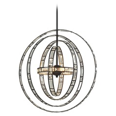 Elk Lighting Crystal Orbs Oil Rubbed Bronze Pendant Light