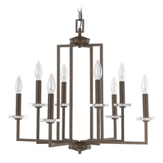 Capital Lighting Morgan Burnished Bronze Crystal Chandelier
