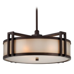 Underscore Cimmaron Bronze Pendant Light with Drum Shade