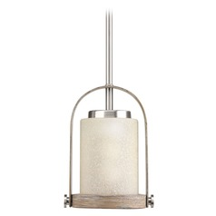 Modern Farmhouse Mini-Pendant Light Brushed Nickel Aspen Creek by Progress Lighting