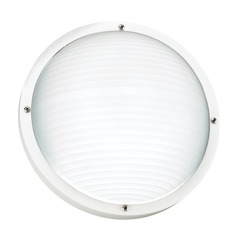 Sea Gull Lighting Bayside White LED Outdoor Wall Light