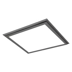 Nuvo Blink Plus Gunmetal Grey Square LED Flushmount Light 3000K 3500LM