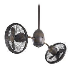 36-Inch Modern Ceiling Fan Without Light in Bronze Finish