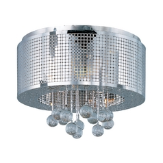 Modern Flushmount Light in Polished Chrome Finish