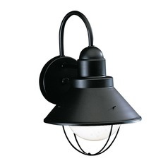Kichler Lighting 12-Inch Nautical Outdoor Wall Light with 8-Watt LED Bulb 9022BK  8W  LED