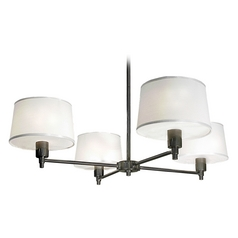 Robert Abbey Real Simple 4-Light Chandelier in Gunmetal Powder