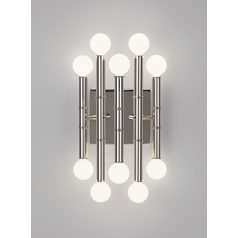 Mid-Century Modern Sconce Polished Nickel Jonathan Adler Meurice by Robert Abbey