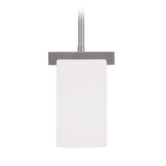 Livex Lighting Astoria Brushed Nickel Mini-Pendant Light with Cylindrical Shade