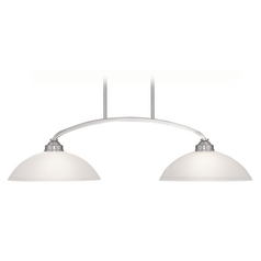 Livex Lighting Somerset Brushed Nickel Billiard Light with Bowl / Dome Shade
