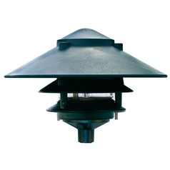 Green Cast Aluminum Three Tier Pagoda Light