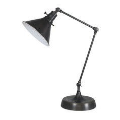 House of Troy Otis Oil Rubbed Bronze Table Lamp with Conical Shade