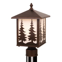 Yosemite Burnished Bronze Post Light by Vaxcel Lighting